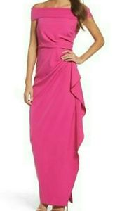 Vince Camuto Off the shoulder crepe gown 4
